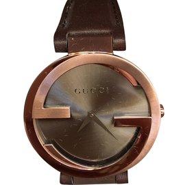 Gucci-Montre-Marron,Bronze