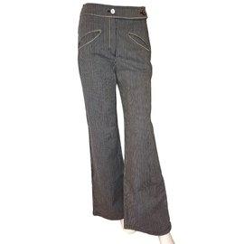 Chanel-Pants-White,Blue