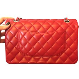 Chanel-Classic medium double flap-Red