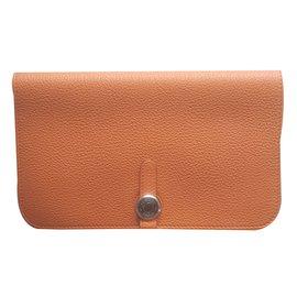 Hermès-Wallet-Orange