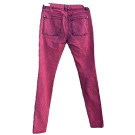 Chanel-Jeans-Dark red