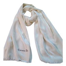 ... Christian Dior-Foulard-Blanc cassé 59360ca0260
