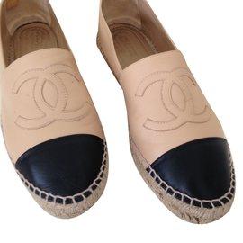 Chanel-Espadrilles Chanel bi-Beige