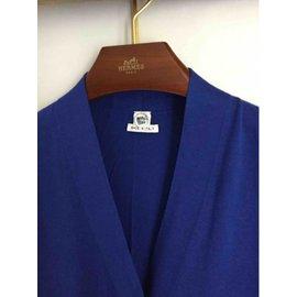 Hermès-Long royal blue cardigan Hermes-Blue