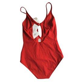 """Hermès-Maillot de bain  """"Glorieuses""""-Rouge"""