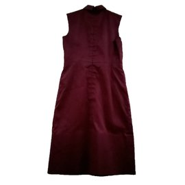 Céline-Dress-Dark red