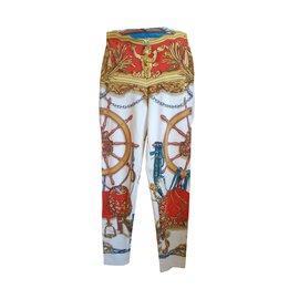 Hermès-Pantalon-Multicolore