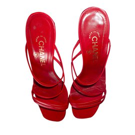 Chanel-Sandales-Rouge