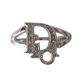 Dior-Bague Dior oblique-Argenté