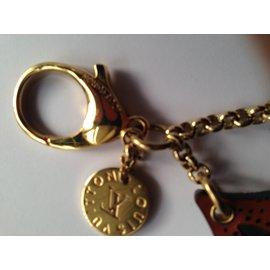 Louis Vuitton-Porte clé-marron clair