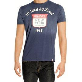 Schott-Tee shirt-Bleu Marine