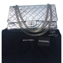 Chanel-Timeless 2.55-Argenté