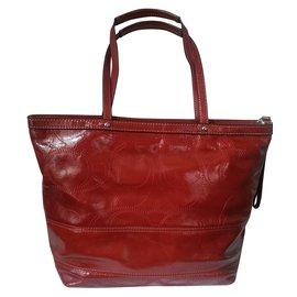 Coach-Handbag-Red