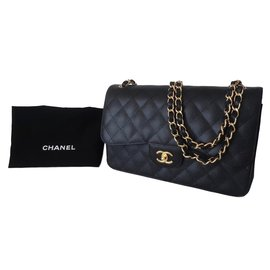 Chanel-Chanel Classic GM Caviar leather-Black