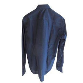 Just Cavalli-Just cavalli men's casual slim fit blue shirt-Blue