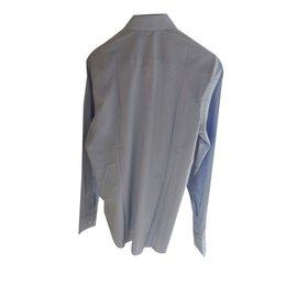 Just Cavalli-Just cavalli men's casual slim fit light blue shirt-Blue