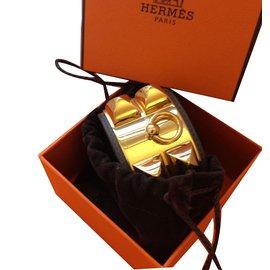 Hermès-COLLIER DE CHIEN HERMES ETAIN-Gris anthracite
