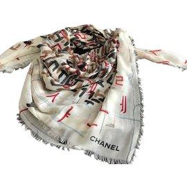 ... Chanel-CHALE CHANEL CACHEMIRE-Multicolore 537193cdc02