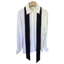 Yves Saint Laurent-Blouse Yves Saint Laurent-Blanc