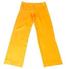 Hermès-Pantalon-Orange