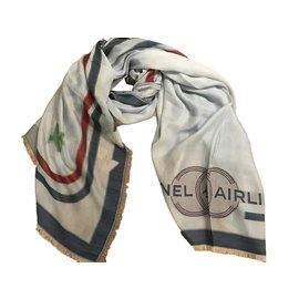 Chanel-Scarf-Blue