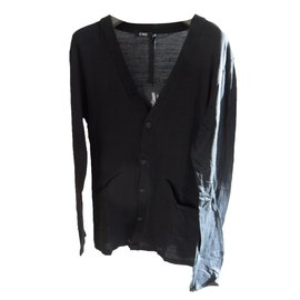 Costume National-C'n'c costume national men's light jersey cardigan size xl-Black