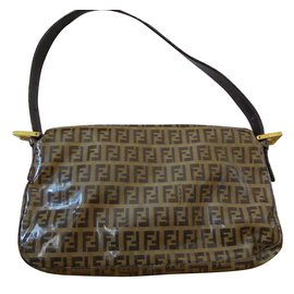 Fendi-Sac Baguette-Marron