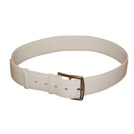 Hermès-Superbe ceinture modèle Etrivière HERMES.-Blanc