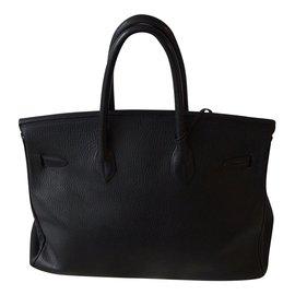 Hermès-Superbe sac Birkin 35 cm Hermès cuir vache Ardennes-Noir