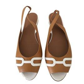 Hermès-Sandales-Caramel