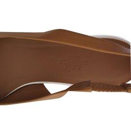 Hermès-Sandals-Caramel