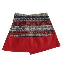 Kenzo-Skirts-Red