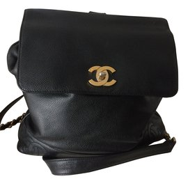 Chanel-Sac à dos Chanel-Noir
