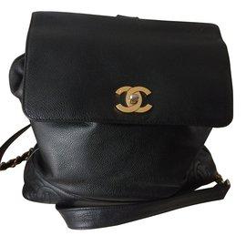 Chanel-Sac à dos Chanel-Noir
