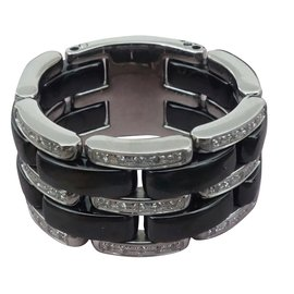 Chanel-BAGUE CHANEL ULTRA GRAND MODELE-Noir