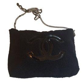Chanel-pochette maquillage-Noir