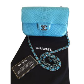 Chanel-Small classic flap bag-Blue