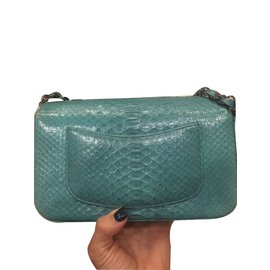 Chanel-Small classic flap bag-Bleu