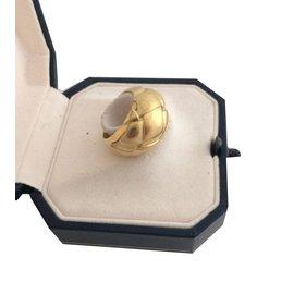 Chaumet-Vintage bague boule en or jaune-Doré