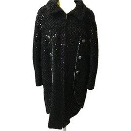 Chanel-Coat, Outerwear-Black