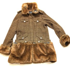 Chanel-Coat-Brown