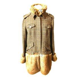 Chanel-Coat-Brown
