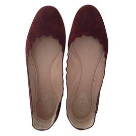 Chloé-Ballet flats-Dark red
