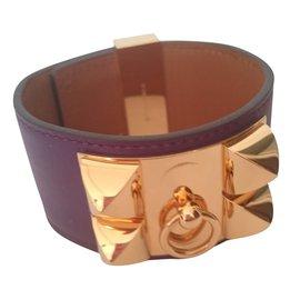 Hermès-Collier de chien-Violet