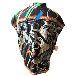 Hermès-Sleeveless blouse-Multiple colors