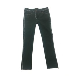 Chanel-Pants, leggings-Green