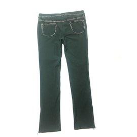 Chanel-Pantalons-Vert
