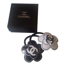 Chanel-Élastique-Noir,Blanc