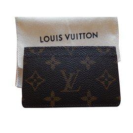 Louis Vuitton-Porte Carte Simple Louis Vuitton-Marron