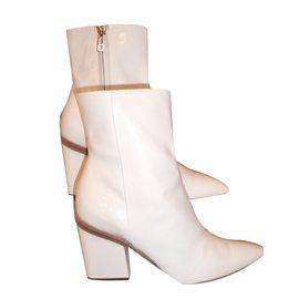 "Hermès-""PASSION"" Ankle Boots-White"